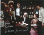 Tom Baker, Louise Jameson  -  Multi signed DOCTOR WHO Genuine Signed Autographs 10 x 8 COA 10268